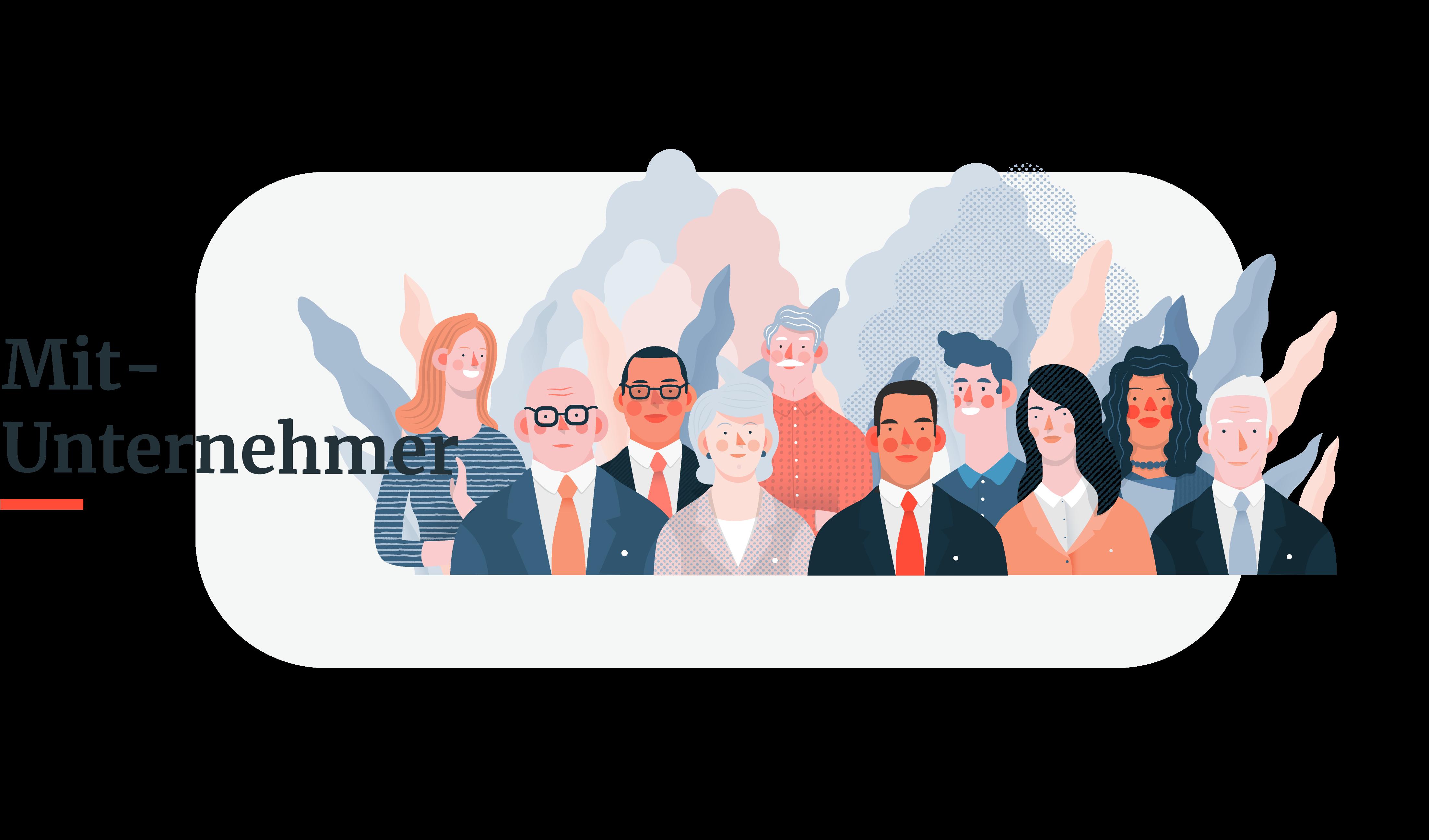 HUMAN - Illustration - Mit-Unternehmer