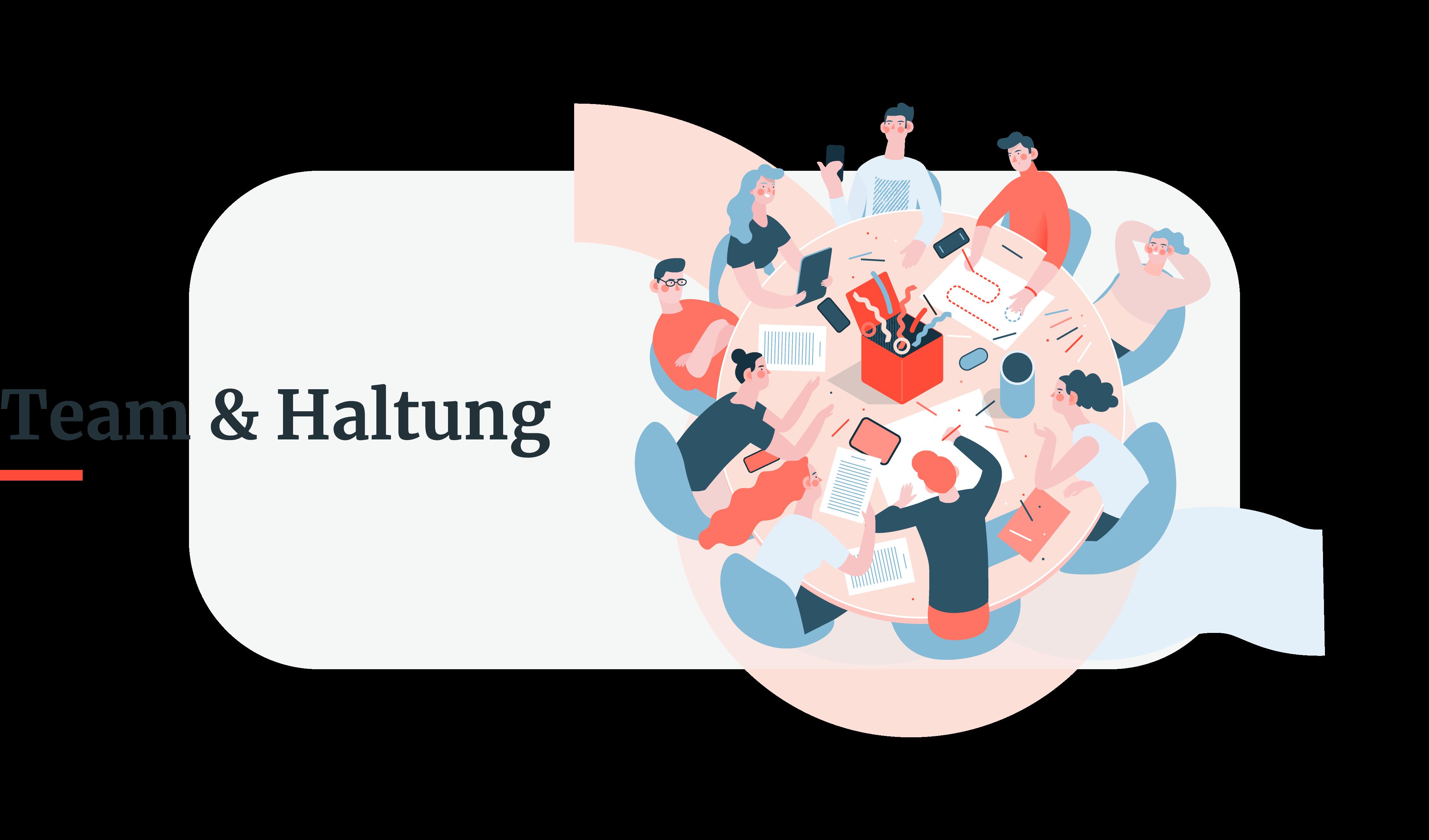 HUMAN - Illustration - Team und Haltung